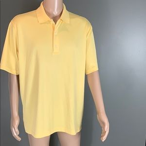 Greg Norman Mens Yellow Golf Polo Shirt SZ.L